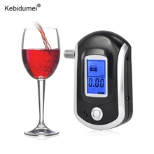 Kebidumei AT6000 Mini Digital LCD Breath Alcohol Tester Professional Breathalyzer Analyzer Portable Alcohol Tester(China)