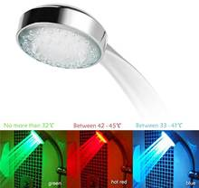 High Quality Magic NEW Water Glow 3 Colors Changing LED Light Bathroom Faucet Temperature Control Tap Shower Head(China)
