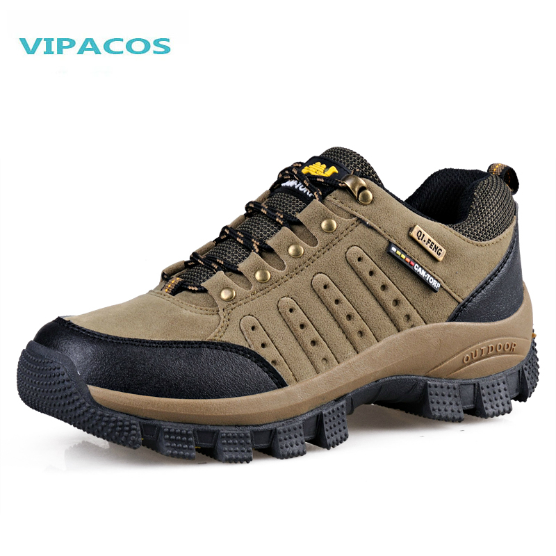 VIPACOS Size 36-47 Men Hiking Shoes Warming New Outdoor Men Climbing Walking Shoes Genuine Leather Sports Tracking Shoe 2 Colors<br><br>Aliexpress