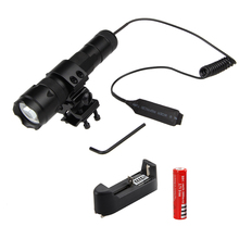 Top Quality 2500Lm  XML T6 LED Tactical Flashlight Torch Light Mount Lamp Rifle Gun Rail