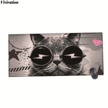 Super Handsome Cat Picture New Arrival Viviration Large Size Mouse Pad For WOW CSGO Overwatch Gaming Mouse Pad Good Uae Mousepad(China)