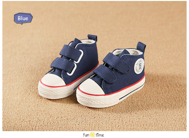 Baby shoes Girl Children Canvas shoes Boys 17 Spring Autumn Fashion High Cotton-made Baby girl little kids shoes 19