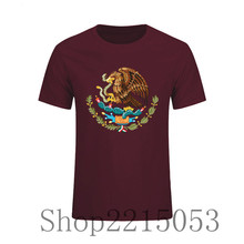 2018 Natural Cotton Crest Mexico Flag Funny T Shirt men stranger things t shirt rick morty shirt oxxxymiron feyenoord nk