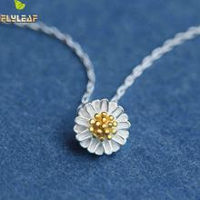 925 Sterling Silver Daisies Necklaces & Pendants For Women Gerbera Chrysanthemum Necklace Sterling Silver Jewelry Bijoux Femme(China)