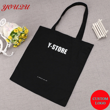 Custom fashion Recyclable Shopping Cotton Bag Customized Cotton Tote Bag(China)