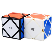 2 Colours Qiyi QiCheng Skewb Speed Magic Cube 2 on 2 Speed Cube Magic Bricks Block Brain Teaser New Year Gift Toys for Children