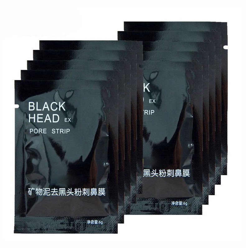 5 pcs/lot Beauty Face Care Nose Herbal Blackhead Remover Tool Mask Pore Strips Facial Skin Minerals Nose Black Head Cleaner 6