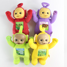 4pcs/lot Kids Teletubbies Baby Cartoon Movie Plush Toys 33cm Size with 3D Face
