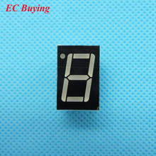 "50pcs 1 bit 1bit Digital Tube Common Anode Positive Digital Tube 0.56"" 0.56in. Red LED Display 7 Segment Digit(China)"