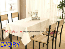 Ivory colour jacquard Rectangle square wedding table linens,damask table cover for wedding,hotel tables decoration wholesale