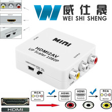 HDMI to RCA HDMI to AV 1080P AV2HDMI Mini HDMI to AV Converte Signal Converter for TV,VHS VCR,DVD Records Chipsets Shown HDMI2AV