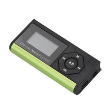 2017 Sport Mini LCD Screen MP3 Player Portable Music Media Radio Multi-funcation 3.5mm Audio Port Music Player Green(China)