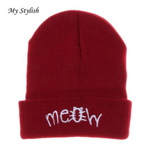 Winter Knitting MEOW Beanie Hat And Snapback Men And Women Hiphop Cap Knitting Wool Stylish Nov 20