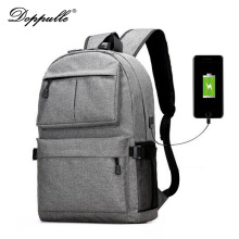 2017 New DOPPULLE Design USB External Laptop Backpacks Canvas Rucksack Backpacks Fashion Travel Backpack Boy Girls School Bags