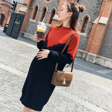 Maternity Sweater Clothes For Pregnant Women Fall Wool Pullover Autumn Winter top Warm Knitting Sweatshirts Maternity Clothing(China)