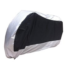 Silver Black Motorcycle Street Bike Scooter Waterproof Resistent Rain UV Protective Breathable Cover Outdoor Indoor storage bag(China)