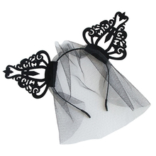 Black Crown Spider Fascinator Hair Hoop Headband Headwear for Halloween Masquerade Ball Party Fancy Dress Party crown(China)