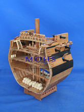 Classic wooden scale sailing boat wood scale ship cross section 1/48 full rib Bonhomme Richard scale assembly model ship kits(China)