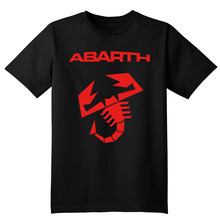 Abarth scorpion logo T shirt Camiseta High quality 100% Cotton Tops Tees T-shirt Italy Fashion Casual classic clothes short 2017