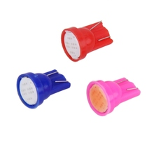 10pcs Ceramic COB T10 COB W5W Wedge Door Instrument Side Bulb Lamp Car Interior LED Car Light Blue/red/Pink