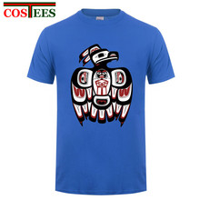 Funny Haida raven t shirts men comic thunderbird t-shirt male suprem tops tees feyenoord shirt for men real tshirt madrids homme(China)