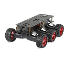 6WD search rescue platform smart car chassis damping off-road climbing raspberry pie can extend the robot arm WIFI cart(China)