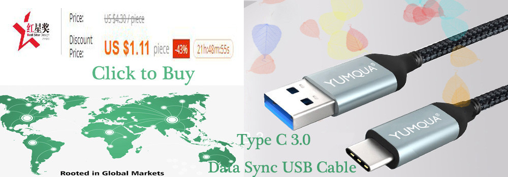 YUMQUA USB Brand Type C Cable type-c Fast Charging Data Cable USB Charger for Xiaomi Mi5 Oneplus 3 2 For Mei zu Pro 6 Nexus 5X