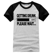 getting Drunk Beer Stag Party Gift Funny Mens T Shirt 2017 summer new fashion style 100% cotton t shirts men brand clothes S-XXL