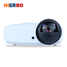 NIERBO 3D HD Ultra Short Focal Projector 1080P Home Theater High Brightness 8000 Lumens Outdoor Business Education Wedding Bar
