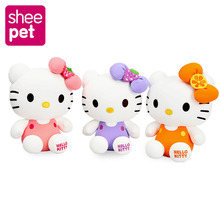 Lovely Hello Kitty Plush Stuffed Toy Hello Kitty Doll Girls Birthday Gift for New Year Cats Doll 20cm(China)