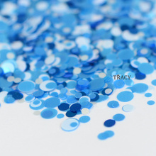 1 bottle Round Blue Designs Nail Glitter Mixed 1/2/3mm Thin Glitter Paillette Tips Nail Sequin Nail Art Beauty DIY Flakes RP38