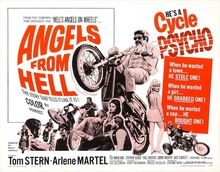 Angels From Hell Motocycle Movie Propaganda Vintage Decorative DIY Wall Stickers Home Posters Art Bar Decor Gift