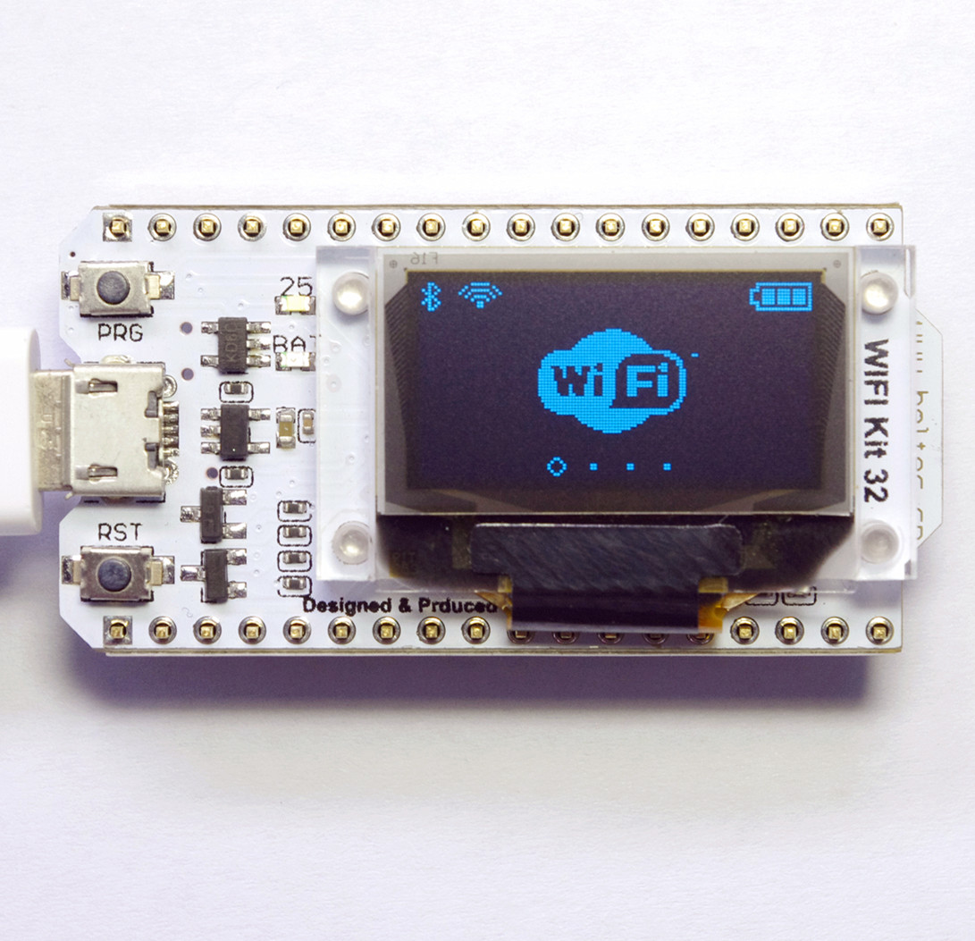 Arduino Internet of Things Development Board, ESP32 Chip, Non Module Bluetooth, OLED WIFI, Kit 32<br>