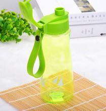 2pcs/lot 600ML water bottle Plastic Creative portable Sports space cup Outdoor Green Color bottle
