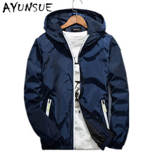 2017 Plus Size 6XL 7XL Hooded Men's Jackets Autumn Spring Casual Thin Mens Jackets And Coats Blue Bomber Jackets Men Coat FYY288