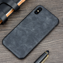 KEYSION Phone Case for Apple iPhone X Luxury Vintage PU Leather Case for iPhone 10 TPU silicone Soft Edge Back cover for iPhoneX(China)