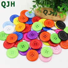 QJH 10PS 38mm Coat Sweater Buttons Wholesale Large Clothing Accessories DIY Craft  Apparel Sewing Tools 4 holes Resin Buttons