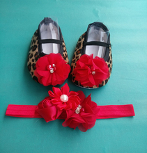 Leopard Baby Moccasins Headbands Set,Diamond Baby Boots,cheap newborn shoes,Animal Girls Shoes,Accessories for Hair