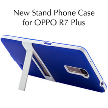 "New Stand Phone Case for OPPO R7 Plus Cover 6.0""TPU Silicone Full Protective Stand Phone Back Cover Fundas Para for OPPO R7 Plus(China)"