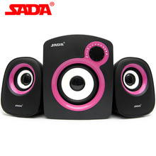 SADA D-200B Multi Media Music 3D Surround Subwoofer Stereo Bass USB 2.1 PC Speaker Computer Phone Speakers for Laptop Notebook