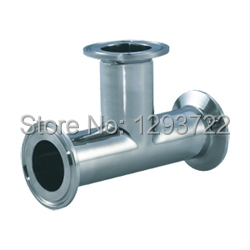 3 1/2  89MM SS304 clamped tee, Tee Stainless steel, Stainless steel pipe fitting,clamp tee,Sanitary Tee<br>