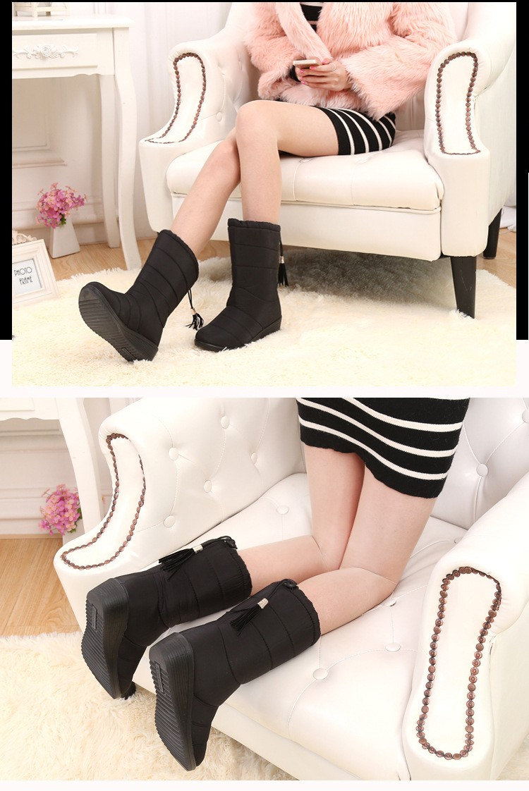 Women Boots 2017 Autumn Winter Ankle Boots Women Winter Shoes Woman Snow Boots Ladies Work Shoes Bota Feminina Plus Size 35-44