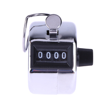 Mini Mechanical Hand Counter 4 Digit Number Manual Counting Tally Finger Clicker for Sport Lap Golf Display Maximum 9999