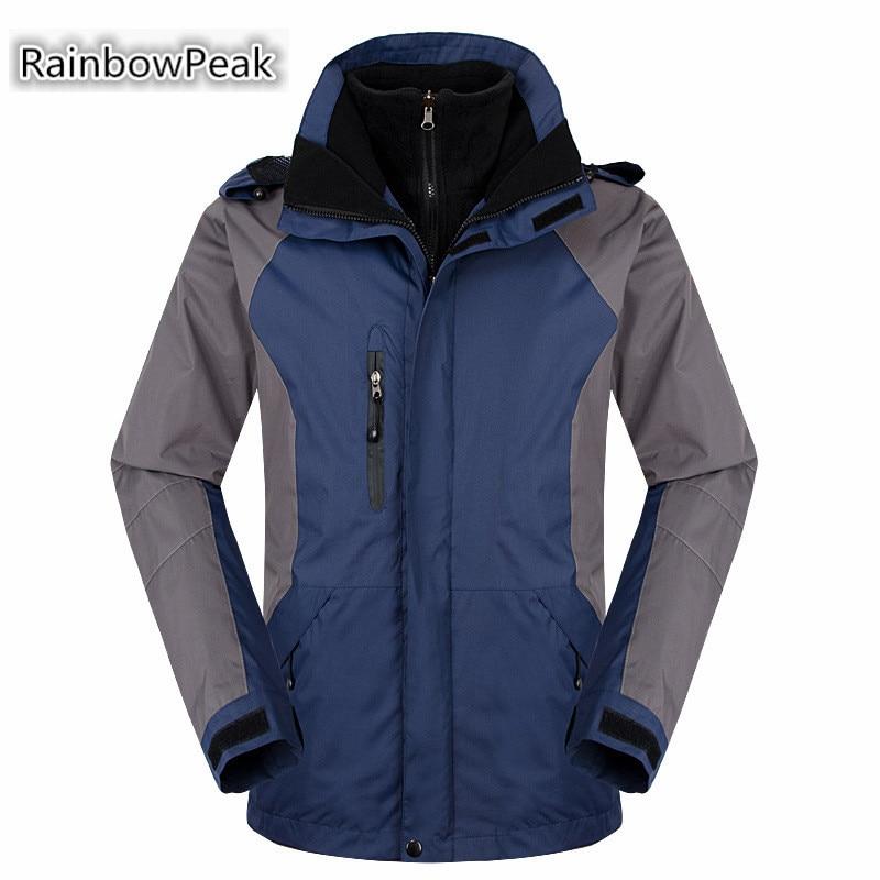 High quality Winter Outdoor Mens Fleece lining thermal hiking jacket Windproof Waterproof coat Windbreaker Climbing outwear<br><br>Aliexpress