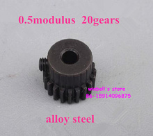 Alloy steel 0.5modulus 20 teeth motor main shaft metal gear bore diameter 3mm 3.175mm 4mm 5mm motor~