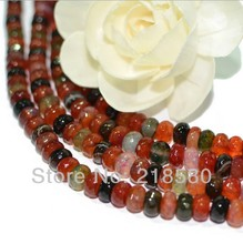 H-ARB03 Candy Color 5 Strands/lot 15.5 inch Faceted Rondelle Dragon Bead Agat Beads 6mmx10mm
