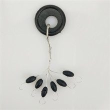 Hot Sale 10 Group 60pcs Tackle Resistance Space Not To Hurt The Line Vertical Beans Fishing Accessories Rod Clip/o-shaped Ring
