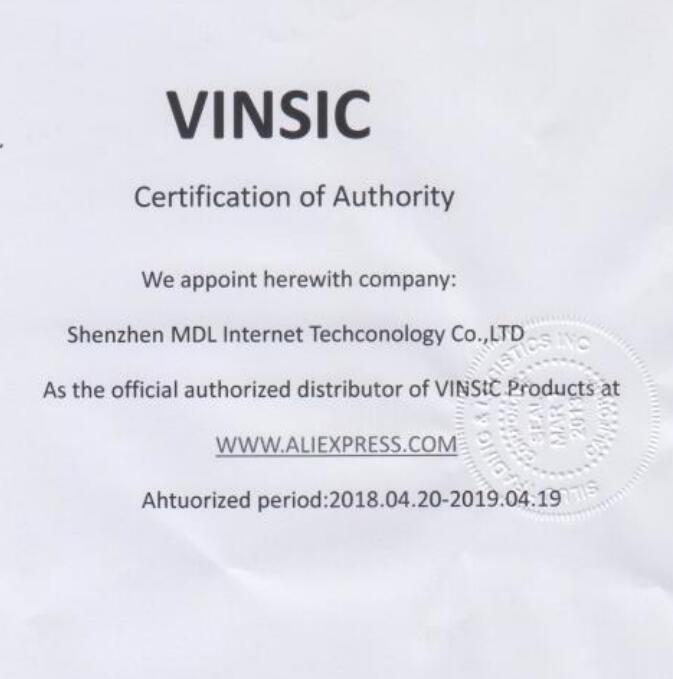 VINSIC AUTHORIZATION