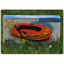 PVC Inflatable Boat with Paddles/Oars Fishing Kayaka Canoe Freeshipping  Intex brand
