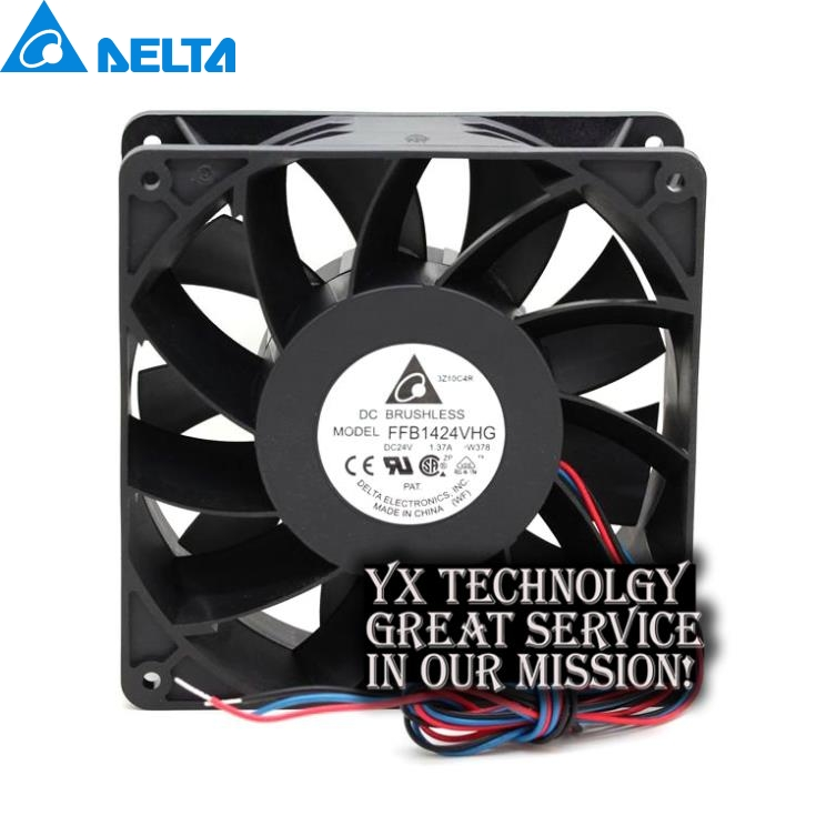 Delta New FFB1424VHG 14050 14CM 24V 1.37A fan drive three-line winds fan for  140*140*50mm<br>
